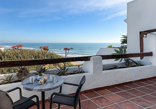 Villa Poniente Terrasse am Villas Flamenco Beach in Conil