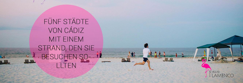 Städte von Cádiz mit einem Strand