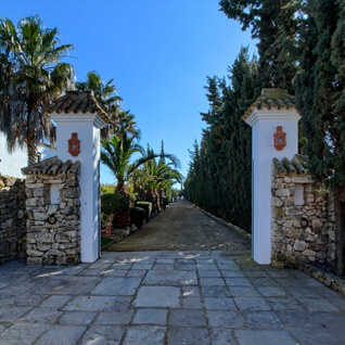 Entrance of Hacienda Roche Viejo- Accommodation Flamenco Villas in Conil